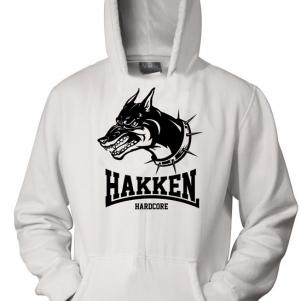 Hakken Hooded Sweater 'Doberman White'