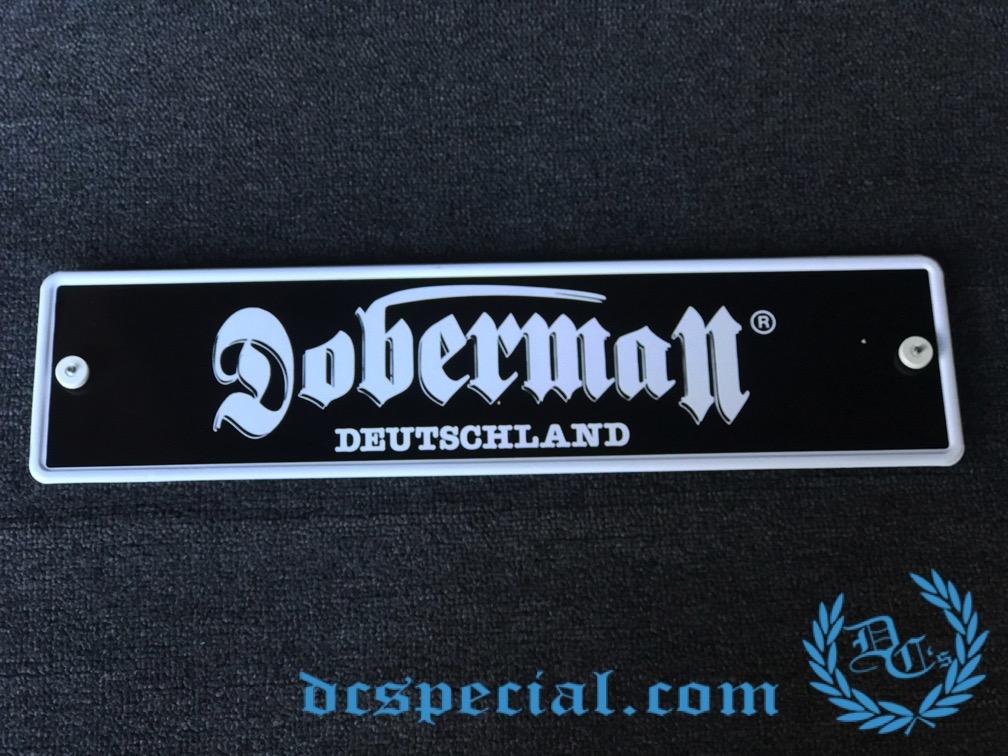 Doberman License Plate 'Doberman Deutschland'