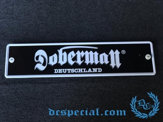 Doberman Nummerplaat 'Doberman Deutschland'