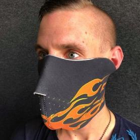 Masker Half Face 'Flames'