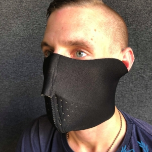 Masque Half Face 'Flames'