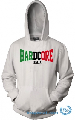 Hakken Hooded Sweater 'Hardcore Italia White'