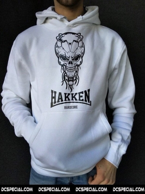 Hakken Hooded Sweater 'Cyberskull White'