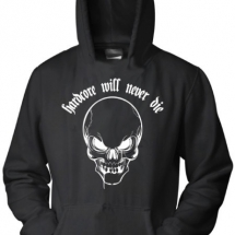 Hakken Hooded Sweater 'Will Never Die Skull'