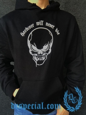 Hakken Hooded Sweater 'Will Never Die Skull'