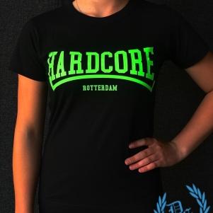 Hakken Ladies T-shirt 'Hardcore Rotterdam Green'