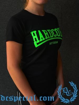 Hakken Dames T-shirt 'Hardcore Rotterdam Green'
