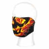 Mask Half Face 'Yellow/Red Flames'