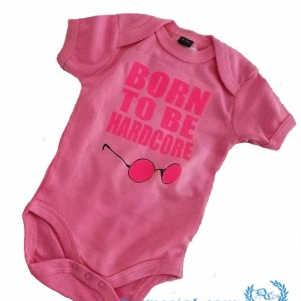 Hakken Baby Bodysuit 'Born To Be Hardcore'