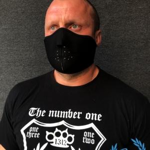 Masker Half Face 3D 'Neopreen Black'