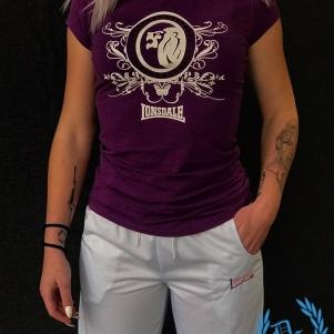 Lonsdale Dames T-shirt 'Violet Lion'