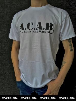 ACAB T-shirt 'Basic White'