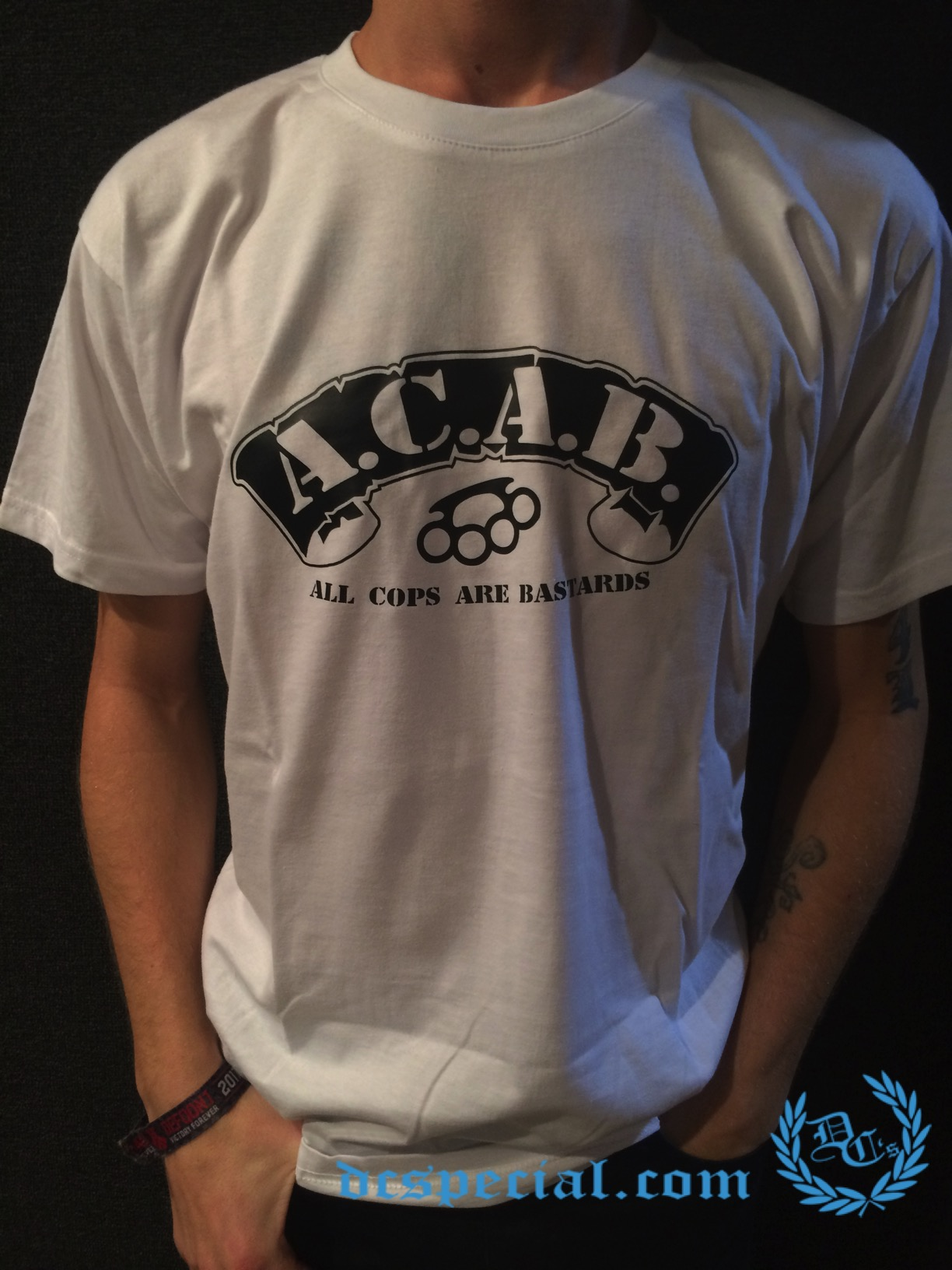 Shirt Streetwearshop Hardcoreamp; Acab Special T 'knuckle'Dc's IDWE9H2