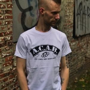 ACAB T-shirt 'Knuckle White'