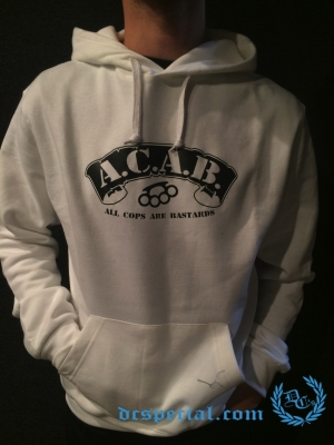 ACAB Hooded Sweater 'Knuckle White'