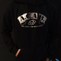 ACAB Hooded Sweater 'Knuckle Black'