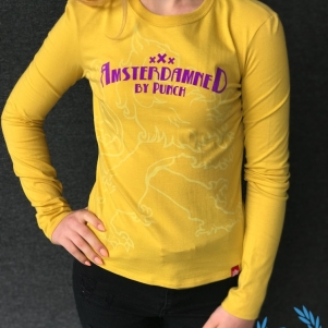Amsterdamned Ladies Longsleeve 'Yellow'
