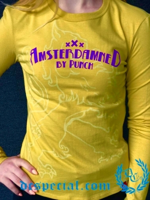 Amsterdamned Dames Longsleeve 'Yellow'
