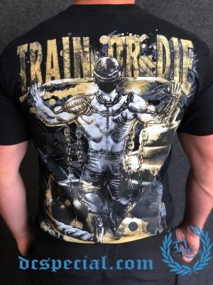 Pit Bull T-shirt 'Train Or Die'