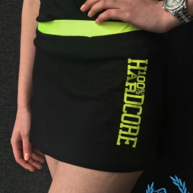 100% Hardcore Ladies Skirt 'Black/Yellow'