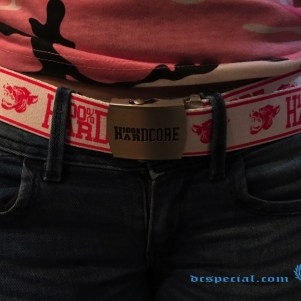 100% Hardcore Belt 'Hound White/Pink'