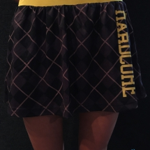 100% Hardcore Skirt 'Check Yellow'