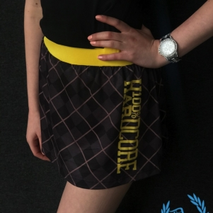 100% Hardcore Ladies Skirt 'Check Yellow'