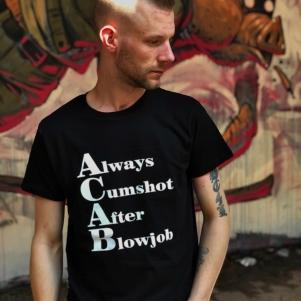 ACAB T-shirt 'Cumshot'