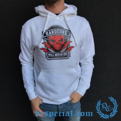Hakken Hooded Sweater 'Will Never Die White'