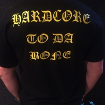 Casual T-shirt 'Hardcore To Da Bone'