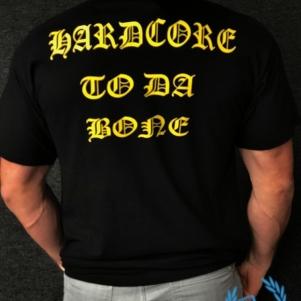 Casual T-shirt 'Hardcore To Da Bone'