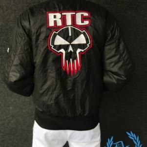Rotterdam Terror Corps Bomber Jacket 'Red Skull'