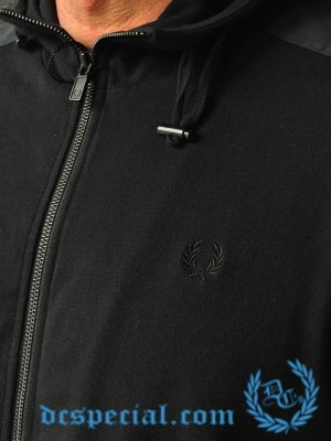 Fred Perry Hooded Sweater 'Full Black'
