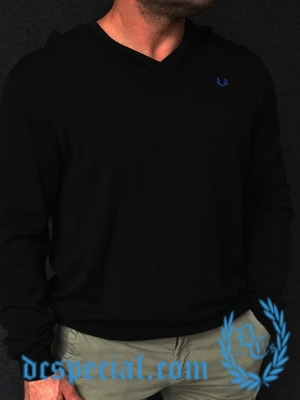 Fred Perry Sweater 'Black/Blue'