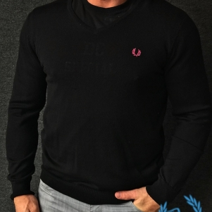 Fred Perry Sweater 'Black/Pink'