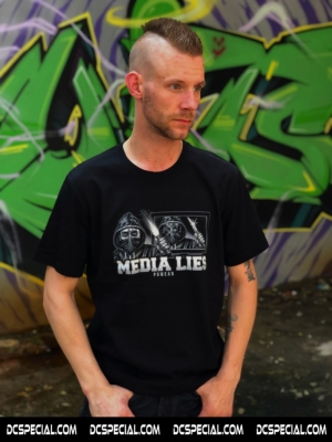 PGwear T-shirt 'Media Lies'