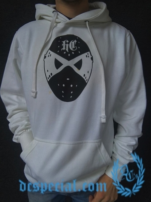 Hakken Hooded Sweater 'Hockeymask White'