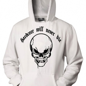 Hakken Hooded Sweater 'Hardcore Will Never Die Skull'