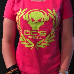 Dc's special T-shirt Fuchsia 'Headphone'