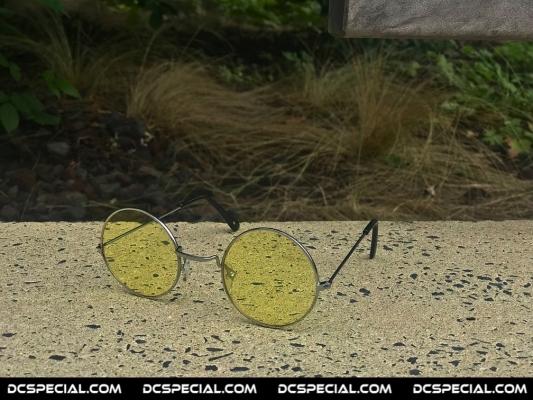Gabber Old School Bril 'Light Yellow'