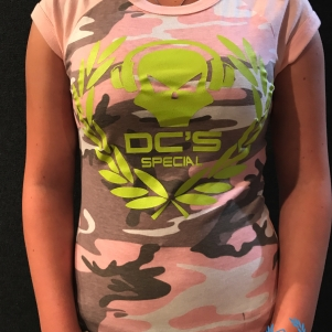 Dc's Special Dames T-shirt 'Headphone Vintage Camo'