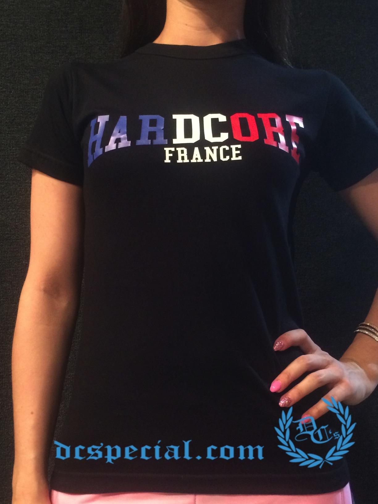 France T-shirt 'Hardcore France'