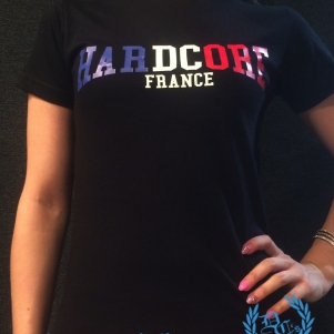 France T-shirt 'Hardcore France'