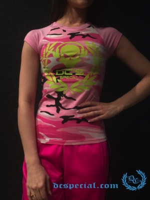 Dc's Special Dames T-shirt 'Shortsleeve Headphone Pink'