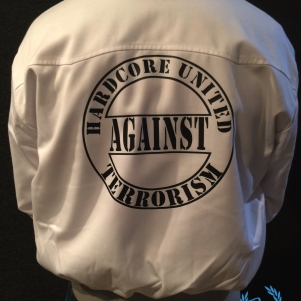 Hardcore Against Terrorism Harrington Veste 'Against Terrorism'