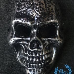 Mask Full Face 'Skull Silver'