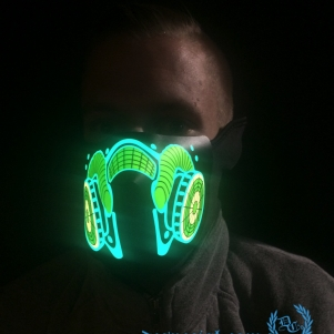 Masker LED Lights 'Gasmask'