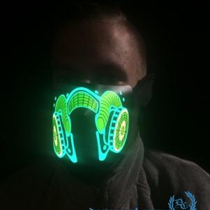 Masker LED Lights 'Gasmask'
