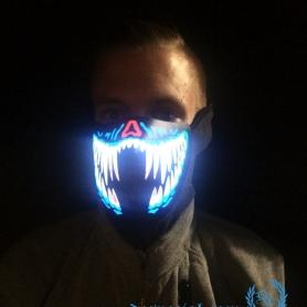 Masker LED Lights 'Creepy Smile'