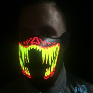 Masker LED Lights 'Creepy Smile'